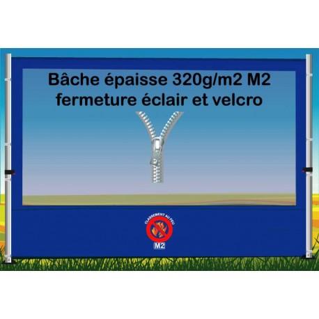 BACHE FENETRE EPAISSE FERMETURE ECLAIR 3m