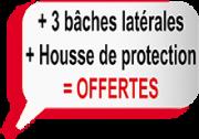 3 baches latérales offertes